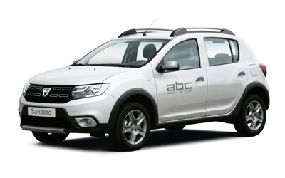 Ducia Sandero Stepway by ABC Rent A Car Corfu Airport Delivery.