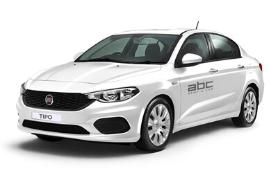 Fiat Tipo Sedan by ABC Rent A Car Corfu Airport.