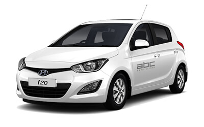 Hyundai i20 by ABC Rent A Car Corfu Airport.