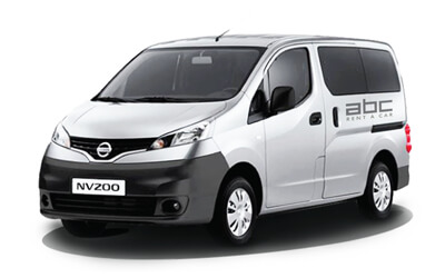 Nissan Evalia by ABC Rent A Car Corfu Airport.
