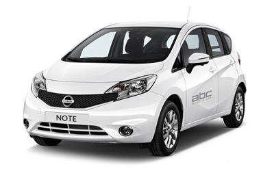 Nissan Note by ABC Rent A Car Corfu Airport.