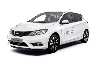 Nissan Pulsar by ABC Rent A Car Corfu Airport.