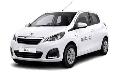 Peugeot 108 by ABC Rent A Car Corfu Airport.