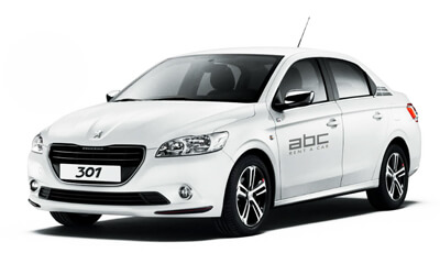Peugeot 301 by ABC Rent A Car Corfu Airport.