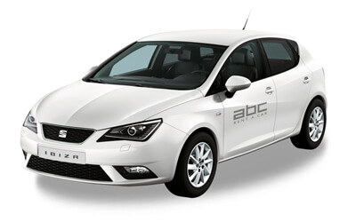 Seat Ibiza by ABC Rent A Car Corfu Airport.