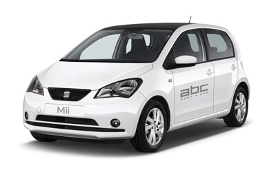 Seat Mii by ABC Rent A Car Corfu Airport.